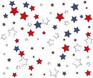 American Style Tricolor Stars royalty free illustration