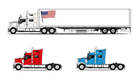 American style trucks Royalty Free Stock Images