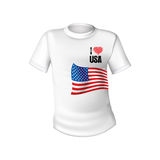 American stylish t-shirt Royalty Free Stock Photography