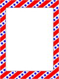 American stylized frame with USA symbols. royalty free stock image