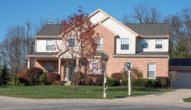 American Suburban Home Stock Images