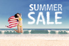 American summer sale concept Royalty Free Stock Photo