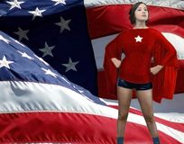 American superheroine Royalty Free Stock Photos