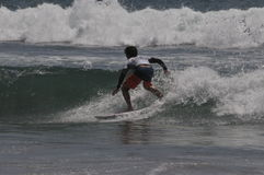 American  Surfer griffin Colapinto (1) competes in California Royalty Free Stock Photos