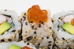 American sushi alaska roll. Royalty Free Stock Photos