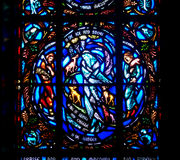 Stained Glass of God of Season Stock Photography