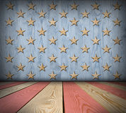 American symbol interior room. American symbol empty interior room with space for Your idea Royalty Free Stock Image