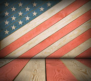 American symbol interior room. American symbol empty interior room with space for Your idea Royalty Free Stock Images