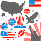 American symbols set Stock Photos