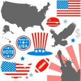 American symbols set stock photos