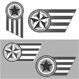 American symbols star and stripes stock images