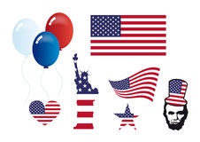 American symbols set vector Royalty Free Stock Image
