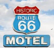 Motel spirit. American syule of life, motel spirit in historic 66 road Royalty Free Stock Photo