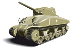American Tank. Detailed ial image of American Tank - M4 Sherman - basic unit of American land forces in World War II Stock Photography