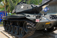 American tank on display at the War Remnants Museum Royalty Free Stock Photo