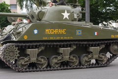 American tank of the Second World War parading for the national day of 14 July ,France Royalty Free Stock Image
