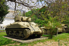 AMERICAN TANK IN TEHRAN Royalty Free Stock Images