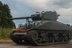 AMERICAN TANK OF WORLD WAR II. American tank World War II M4 SHERMAN Royalty Free Stock Photo