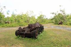 US tank from WWII. American tank from World War II on Peleliu island in Palau Stock Photo
