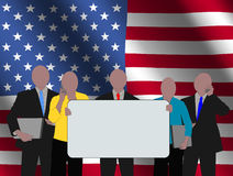 American team with flag Royalty Free Stock Images