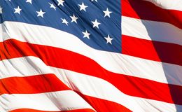 American Textile Flag Stock Photography