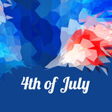 American 4th of july background. Abstract 4th of july flag style background Royalty Free Stock Photography