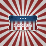 American 4th of July celebration Background. Vector Illustration Royalty Free Stock Images