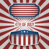 American 4th of July Holiday Banners. In realistic Style. Vector Illustration stock illustration