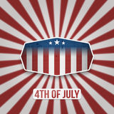American 4th of July Independence Day Banner. American 4th of July Independence Day vector Banner on Striped Background Stock Photography