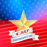American 4th of July with ribbon Royalty Free Stock Photos