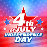 American 4th of July, vector background Stock Photo