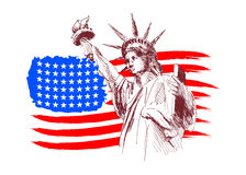 American theme. Vector background with an American theme Stock Photography