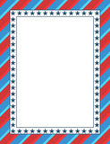 American themed patriotic frame design. With blank space Royalty Free Stock Photo