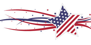 American themed star and abstract swirls Stock Images