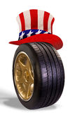 American Tire. Royalty Free Stock Image
