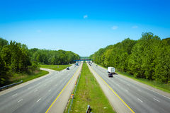 American toll way Royalty Free Stock Photography