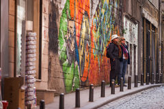American Tourists in Istanbul Stock Photography