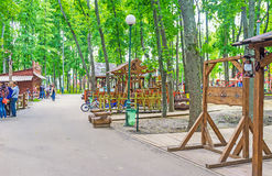 The American Town in Gorky Park Stock Photo