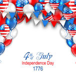 American Traditional Celebration Background for Independence Day. Illustration American Traditional Celebration Background for Independence Day. Poster with Stock Photography
