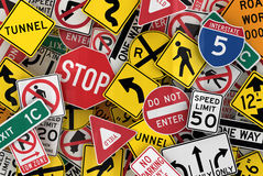 Free American Traffic Signs Stock Photo - 19471820