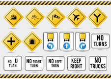 American traffic signs Royalty Free Stock Images
