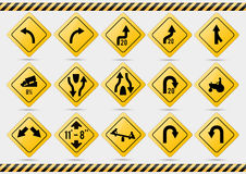 American traffic signs. Vector illustration of traffic signs Stock Photography
