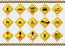 American traffic signs. Vector illustration of traffic signs Royalty Free Stock Photography