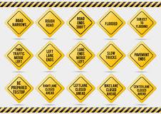 American traffic signs. Vector illustration of traffic signs Royalty Free Stock Image