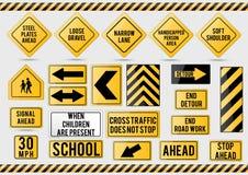 American traffic signs Stock Photo