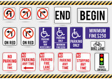 American traffic signs. Vector illustration of traffic signs Check my profile for large collection Royalty Free Stock Photo