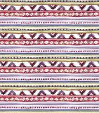 American tribal design. Seamless background - tribal pattern. Hand painted watercolor. American tribal design. Seamless background with tribal pattern. Hand royalty free illustration