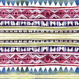 American tribal design. Seamless background - tribal pattern. Hand painted watercolor. American tribal design. Seamless background with tribal pattern. Hand stock photos
