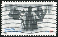 American troops. UNITED STATES - CIRCA 2003: stamp printed by United States of America, shows American troops in Korea, circa 2003 Stock Photo