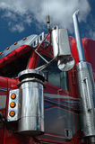 An American truck. Red American truck Stock Image